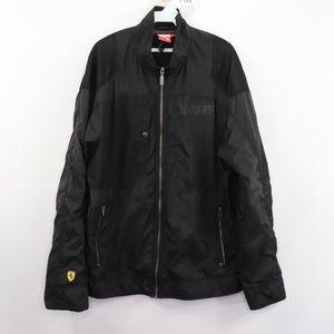 Puma Ferrari Mens Large  Windbreaker Jacket Black